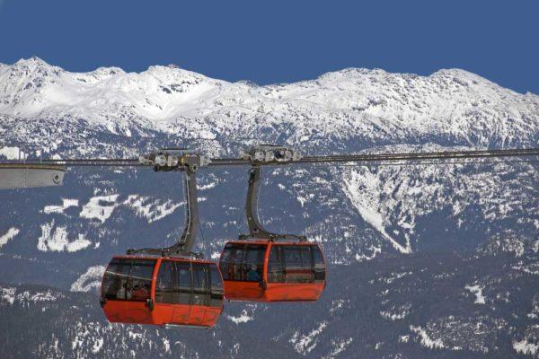 whistler gondolas in transit
