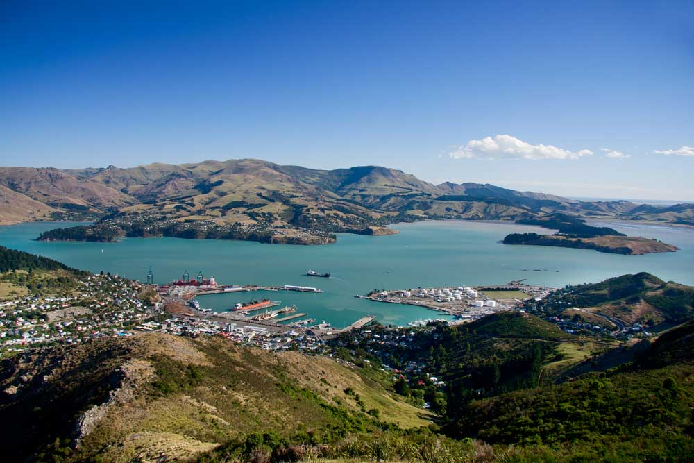 aerial view of the town of christchurch