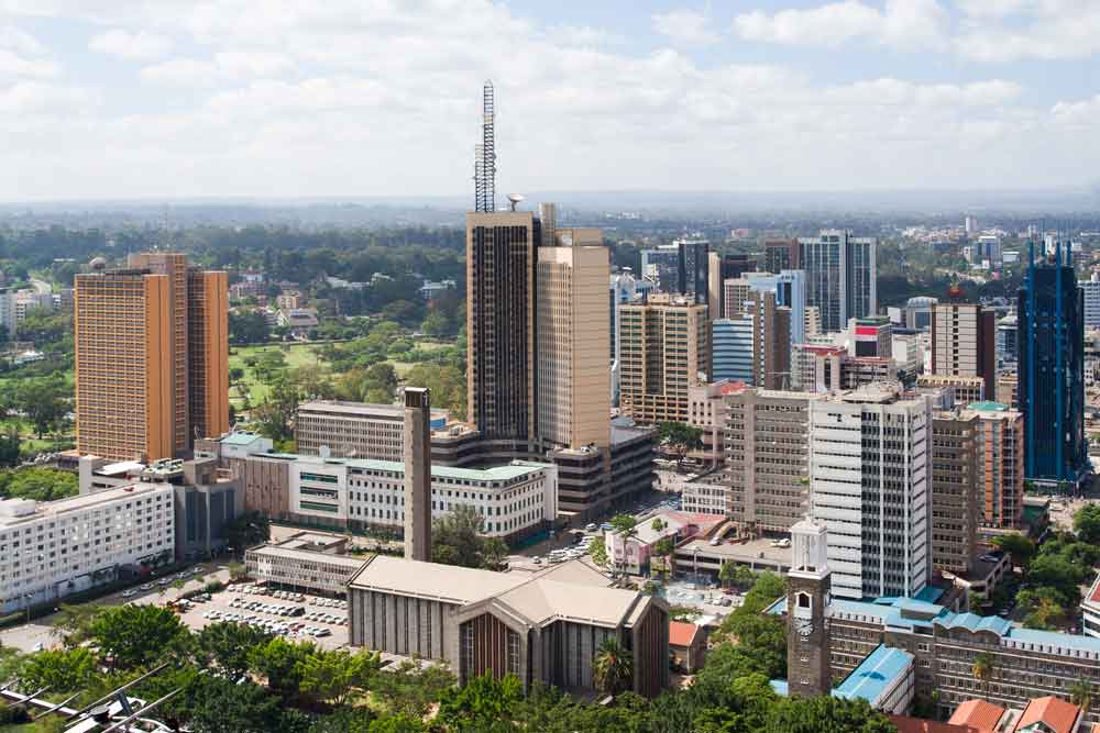 city scape of nairobi kenya