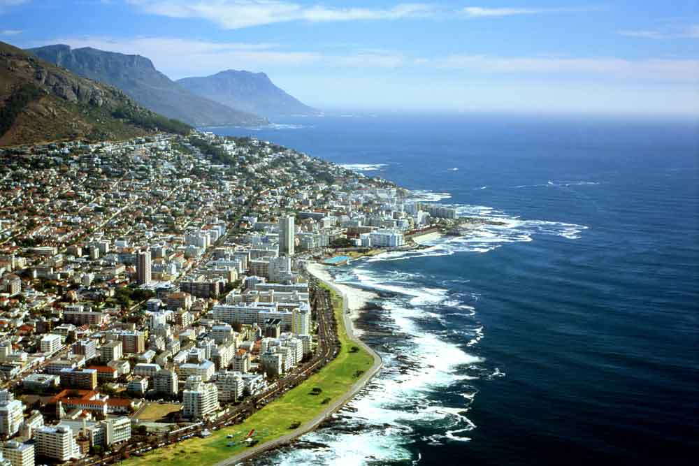aerial view of cape town south africa