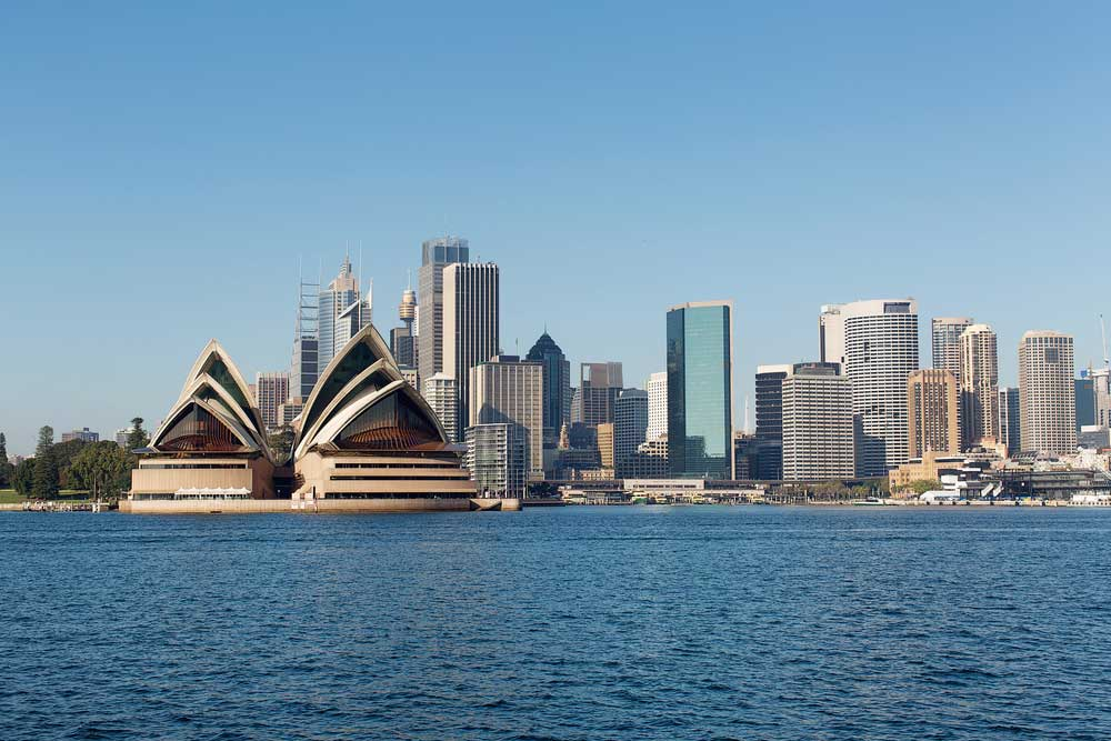 shot of Sydney Australia from the water