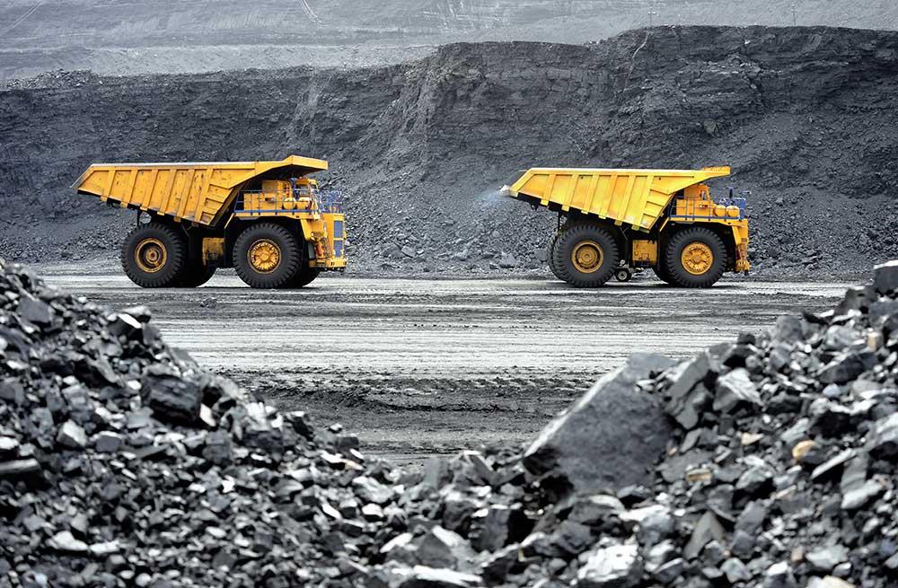 mining equipment on site